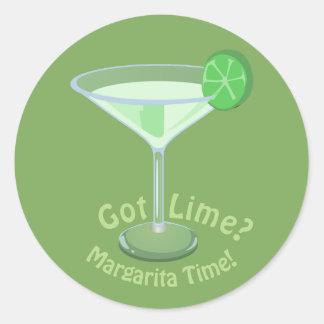 Got Lime? Margarita Time! Classic Round Sticker