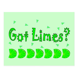 Got Limes Confetti, Lime Lovers Shirts & Gifts Postcard