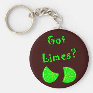 Got Limes?  Lime Lovers T-Shirts & Gifts Basic Round Button Keychain
