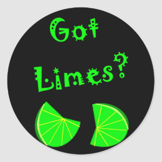 Got Limes?  Lime Lovers T-Shirts & Gifts Classic Round Sticker