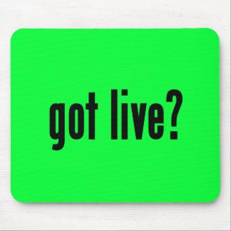 got live? mouse pad