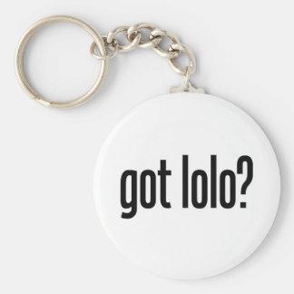 got lolo basic round button keychain