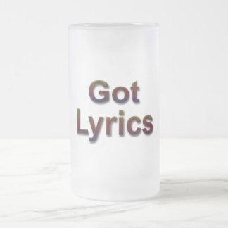 Got Lyrics2 Frosted Glass Beer Mug