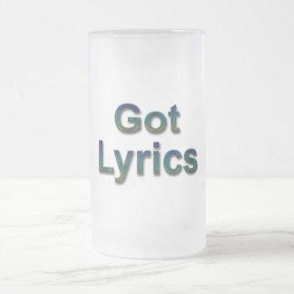 Got Lyrics3 Frosted Glass Beer Mug