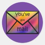 got mail classic round sticker