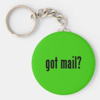 got mail? basic round button keychain