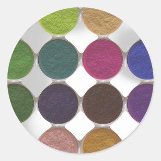 Got Makeup? - Eyeshadow palette Classic Round Sticker