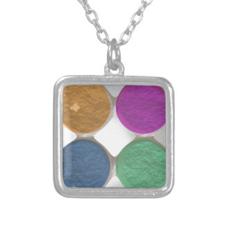 Got Makeup? - Eyeshadow palette Silver Plated Necklace