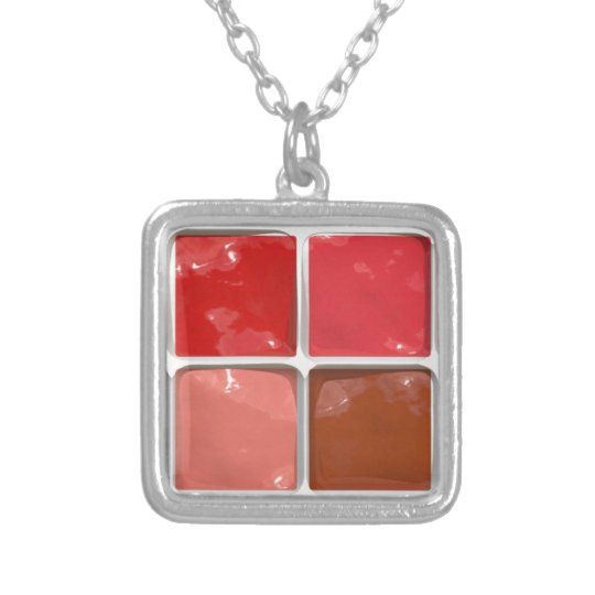 Got Makeup? - Lipstick box Silver Plated Necklace