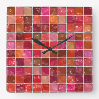 Got Makeup? - Lipstick box Square Wall Clock
