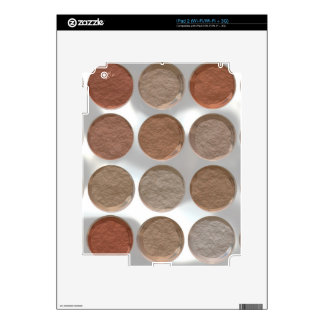 Got Makeup? - Pressed Powder foundation palette Decals For The iPad 2