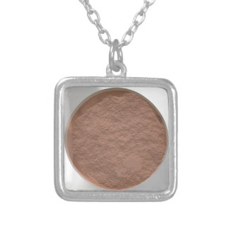 Got Makeup? - Pressed Powder foundation palette Silver Plated Necklace