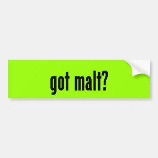 got malt? bumper sticker
