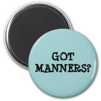 Got Manners? 2 Inch Round Magnet
