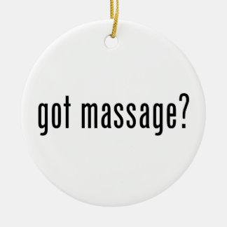 Got Massage? Christmas Tree Ornaments