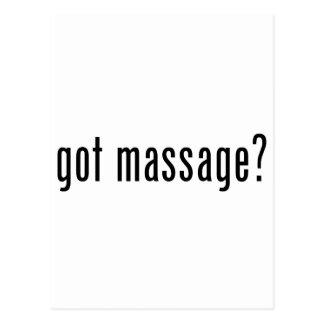 Got Massage? Postcard