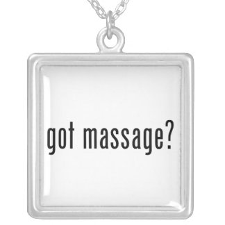 Got Massage? Silver Plated Necklace