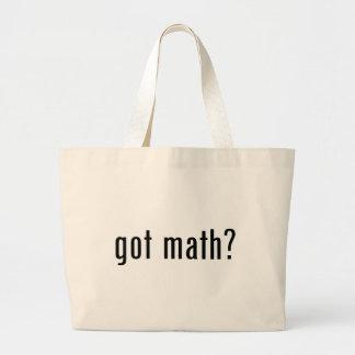 got math? large tote bag