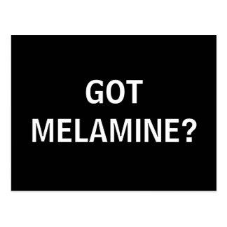 GOT MELAMINE? POSTCARD