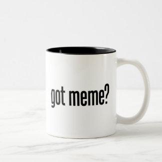 got meme Two-Tone coffee mug