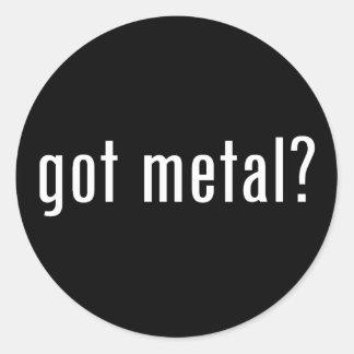 got metal? classic round sticker