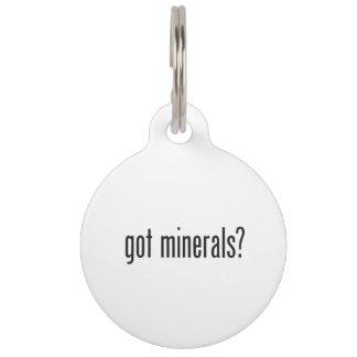 got minerals pet tags