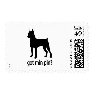 Got Miniature Pinscher Postage Stamps