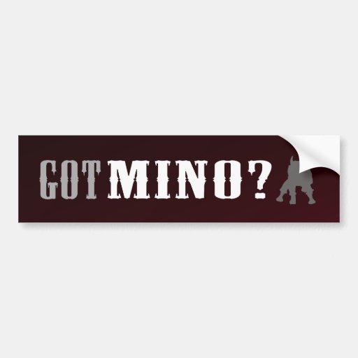 Got Mino? -  Red Bumper Sticker