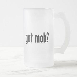 got mob? frosted glass beer mug