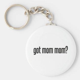 got mom mom basic round button keychain