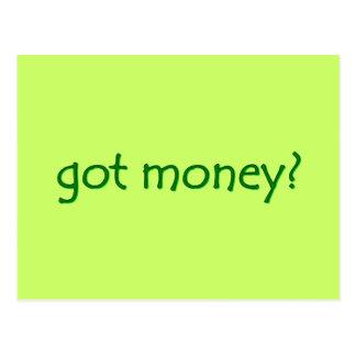 got money? Postcard
