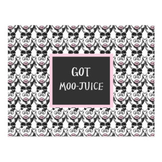Got Moo Juice – Cute Cartoon Cows Postcard