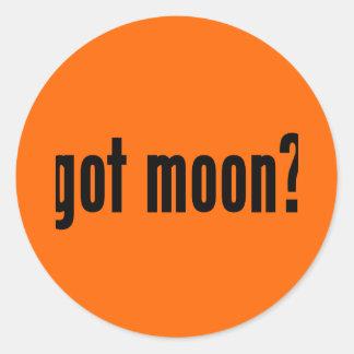 got moon? classic round sticker