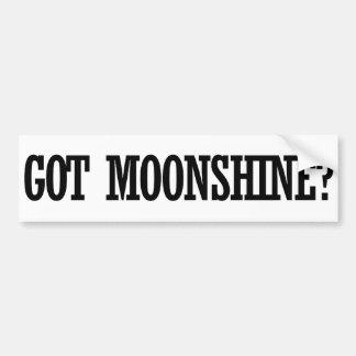 Got Moonshine Car Bumper Sticker