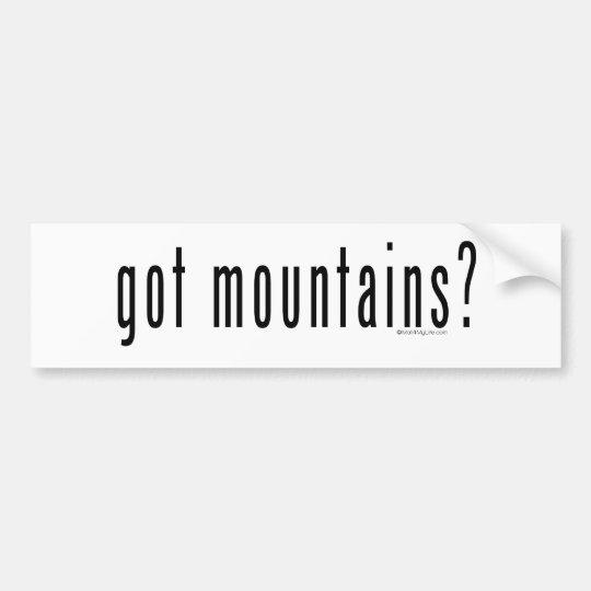 got mountains? bumper sticker