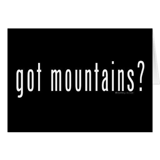 got mountains? greeting card