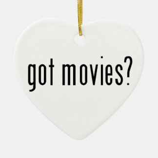 got movies? ceramic ornament