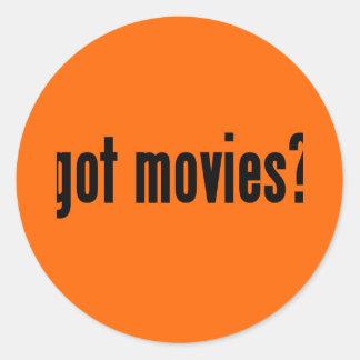 got movies? classic round sticker