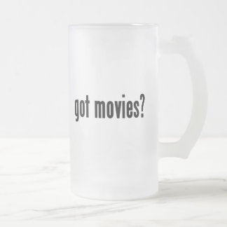 got movies? frosted glass beer mug
