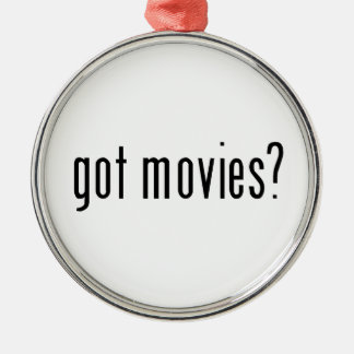 got movies? metal ornament