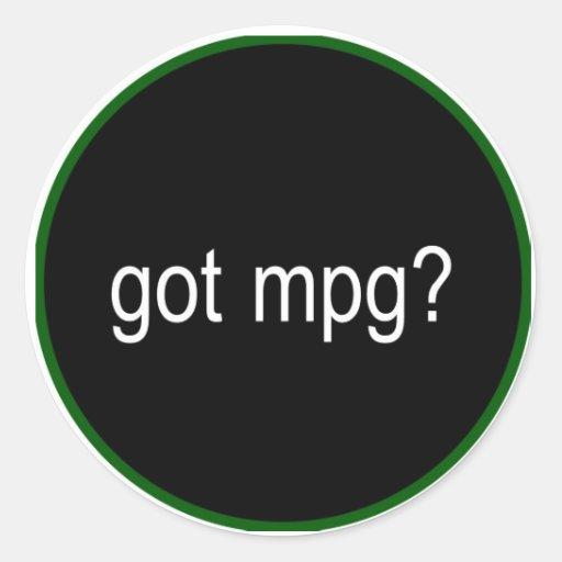 got mpg? car decal round stickers