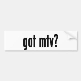 got mtv? bumper sticker
