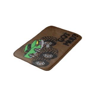 Got Mud? Green Monster Truck Bath Mat for Kids