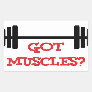 Got Muscles? Rectangular Sticker