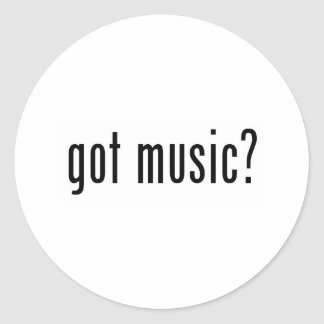 got music? classic round sticker