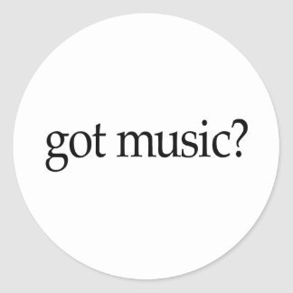 Got Music Classic Round Sticker