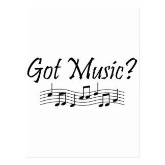 Got Music? (Notes 1) Postcard