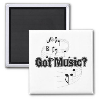 Got Music? (Notes) 2 Inch Square Magnet