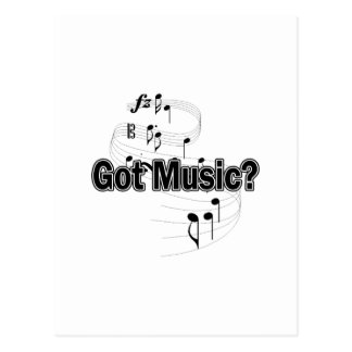 Got Music (Notes) Postcard