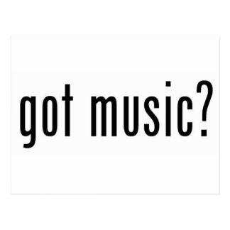 got music? postcard